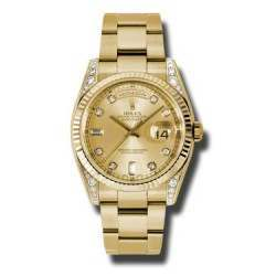 Rolex Day-Date Yellow Gold Champagne/diamond Oyster 118338