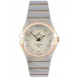 Omega Constellation Polished Quartz Diamonds 123.25.27.60.55.005