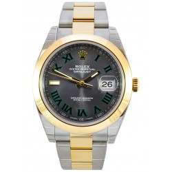 Rolex Datejust 41 Steel and Yellow Gold Slate/Roman Oyster 126303 - 2017