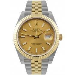 Rolex Datejust 41 Steel and Yellow Gold Champagne/Index Jubilee 126333 - 2018