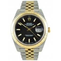 Rolex Datejust 41 Steel and Yellow Gold Black/Index Jubilee 126333