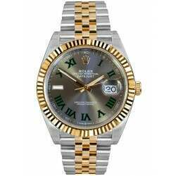 Rolex Datejust 41 Steel and Yellow Gold Slate Dial Jubilee 126333 - Wimbledon