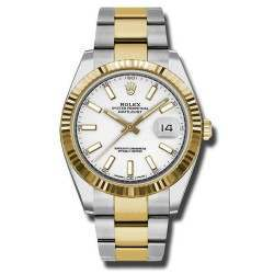 Rolex Datejust 41 Steel and Yellow Gold White/Index Oyster 126333