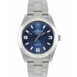 Rolex Air-King Stainless Steel Blue dial Oyster 14010M