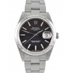 Rolex Oyster Perpetual Date Black/ Index 15200