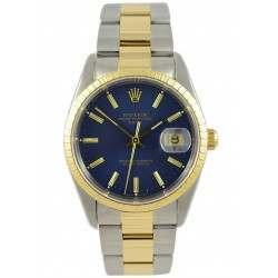Rolex DateJust Blue Dial Steel & Gold 15233