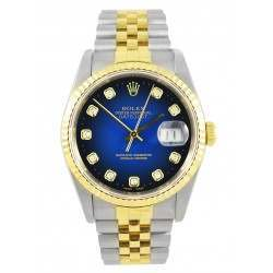 Rolex DateJust 16233 - Blue Diamond Dial