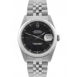 Rolex Datejust Black/ Index Dial Jubilee 16234