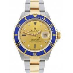 Rolex Submariner Steel and Gold Champagne Dial 16613