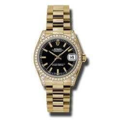 Rolex Datejust 31mm Yellow Gold Black/index President 178158