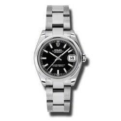 Rolex Lady Datejust 31mm Black/index Oyster 178240