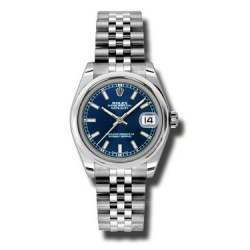 Rolex Lady Datejust 31mm Blue/index Jubilee 178240