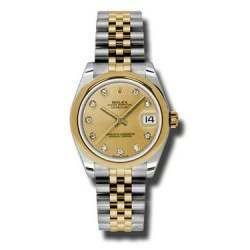 Rolex Lady Datejust 31mm Champagne/diamond Jubilee 178243
