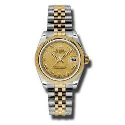 Rolex Lady Datejust 31mm Champagne Roman Jubilee 178243