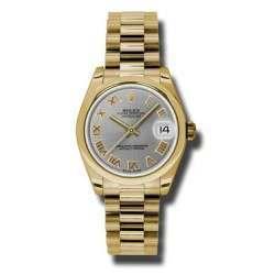 Rolex Datejust 31mm Yellow Gold Steel Roman President 178248