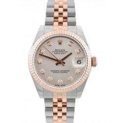 As New Rolex Lady Datejust 31mm Silver/ Diamond Jubilee 178271