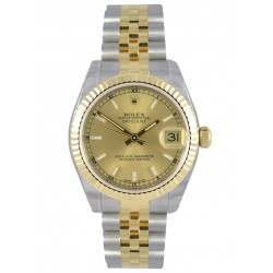 Rolex Lady Datejust 31mm Champagne/index Jubilee 178273