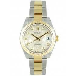 Rolex Lady Datejust 31mm Silver Jub/diamond Oyster 178273