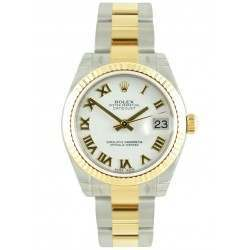 Rolex Lady Datejust 31mm White Roman Oyster 178273
