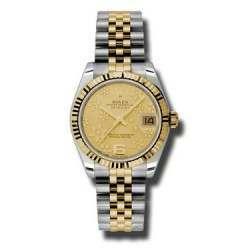 Rolex Lady Datejust 31mm Champagne/Arab 6 Jubilee 178273