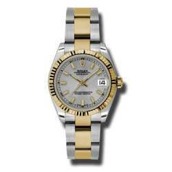 Rolex Lady Datejust 31mm Silver/index Oyster 178273