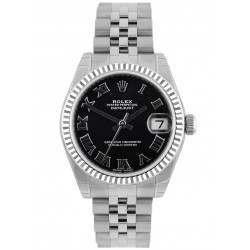 Rolex Lady Datejust 31mm Black Roman Jubilee 178274 - 2018