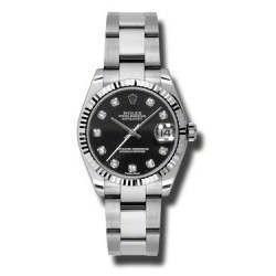 Rolex Lady Datejust 31mm Black/diamond Oyster 178274