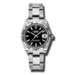 Rolex Lady Datejust 31mm Black/index Oyster 178274