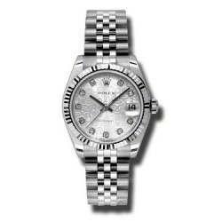 Rolex Lady Datejust 31mm Silver Jub/diamond Jubilee 178274
