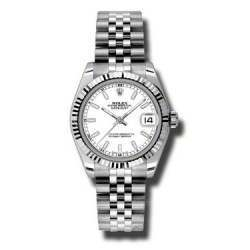 Rolex Lady Datejust 31mm White/index Jubilee 178274