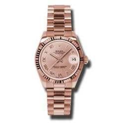 Rolex Datejust 31mm Pink Gold Pink Roman President 178275
