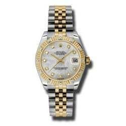 Rolex Datejust 31mm Steel&Yellow Gold White mop/Diamond Jubilee 178313