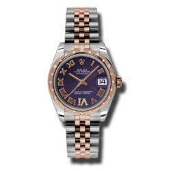 Rolex Lady Datejust 31mm Purple Roman Jubilee 178341