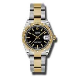Rolex Lady Datejust 31mm Black/index Oyster 178343
