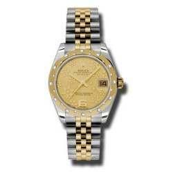 Rolex Lady Datejust 31mm Champagne/Arab 6 Jubilee 178343