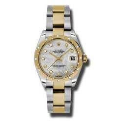Rolex Lady Datejust 31mm White mop/diamond Oyster 178343