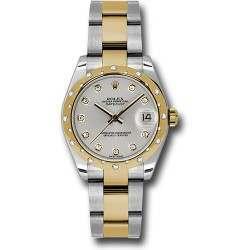 Rolex Lady Datejust 31mm Silver/diamond Oyster 178343