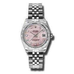 Rolex Lady Datejust 31mm Pink mop/diamond Jubilee 178344