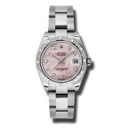 Rolex Lady Datejust 31mm Pink mop/diamond Oyster 178344