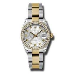 Rolex Lady Datejust 31mm Silver Jub/diamond Oyster 178383