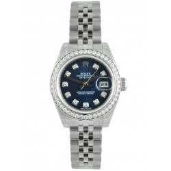 Rolex Lady Datejust 31mm Blue/diamond Jubilee 178384