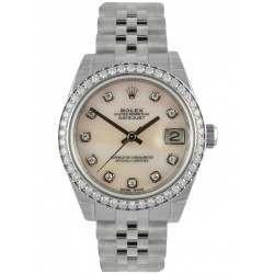 Rolex Lady Datejust 31mm Pink mop/diamond Jubilee 178384