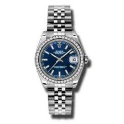 Rolex Lady Datejust 31mm Blue/index Jubilee 178384