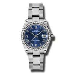 Rolex Lady Datejust 31mm Blue Roman Oyster 178384