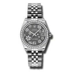 Rolex Lady Datejust 31mm Dark Rhodium/Arab 6 Jubilee 178384