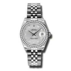 Rolex Lady Datejust 31mm Silver/diamond Jubilee 178384