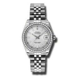 Rolex Lady Datejust 31mm Silver/index Jubilee 178384