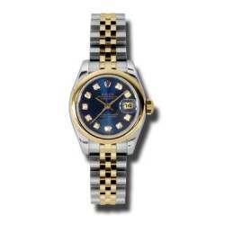 Rolex Lady-Datejust Blue/Diamond Jubilee 179163