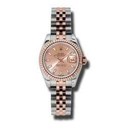 Rolex Lady-Datejust Pink/index Jubilee 179171