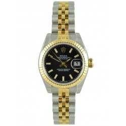 Rolex Lady-Datejust Black/index Jubilee 179173